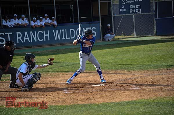 Dylan Mersola at bat (Photo courtesy of Burbank baseball)