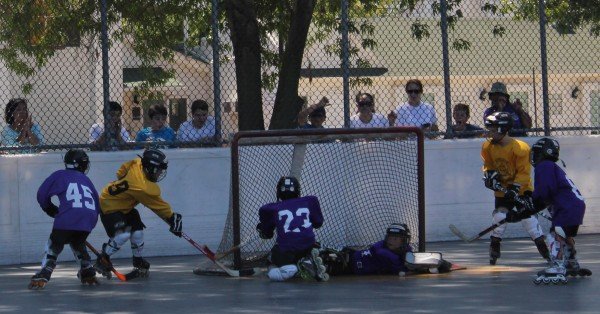 More than 250 kids participate in the Youth Roller Hockey League (Photo courtesy of Frank Dalessandro)
