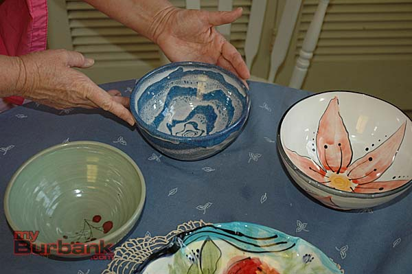 A closer look at more bowls made by Ellisa Weekley. (Photo by Joyce Rudolph)