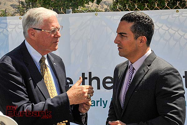 County Supervisor Michael Antonovich and Assemblyman Mike Gatto discuss some of the local issues  (Photo By Craig Sherwood)