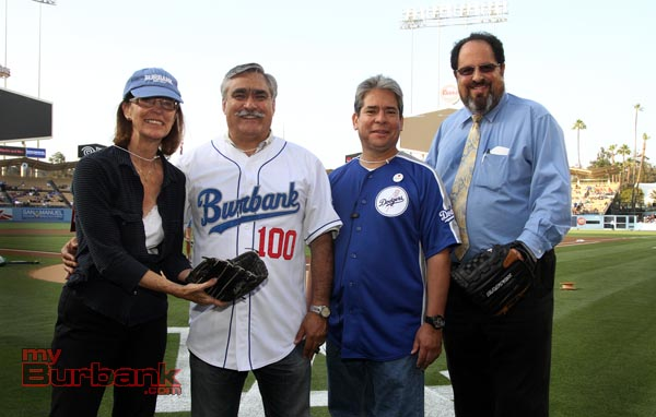 (L to R) Burbank City Council members Mayor Emily Gabel-Luddy, Jess Talamantes, Bob Frutos and Vice Mayor Dr. David Gordon (Photo by Ross A. Benson)