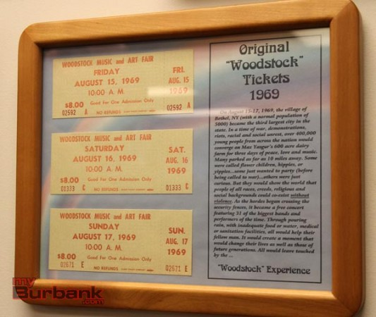 Original Woodstock tickets (Photo by Ross A. Benson)