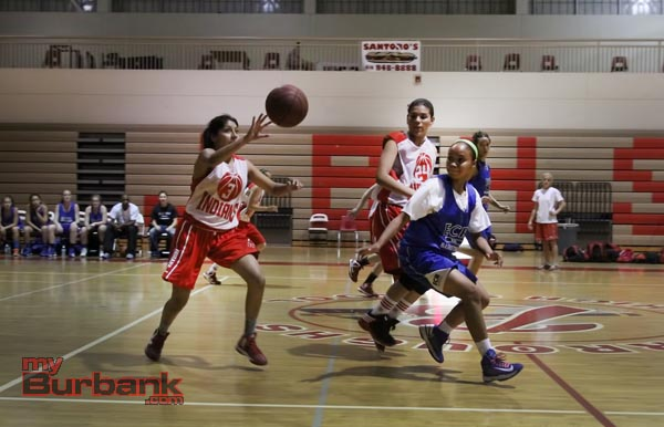 Burroughs girls basketball (Photo by Ross A. Benson)