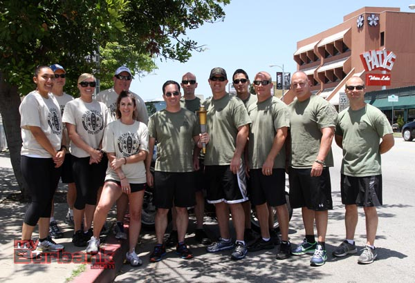 This years Burbank Police Departments Special Olympic Torch Runners. (Photo by Ross A. Benson)
