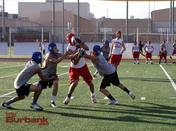 Burbank and Burroughs competed in 7-on-7 passing (Photo by Ross A. Benson)