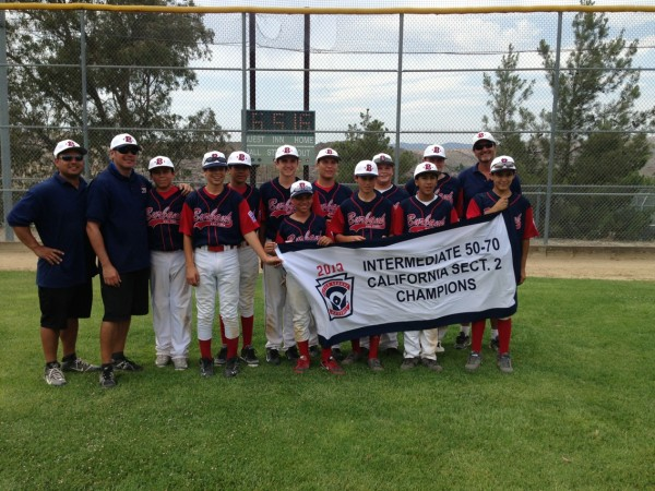 Burbank Little League All-Stars Section 2 Champions (Photo courtesy of Alicia)