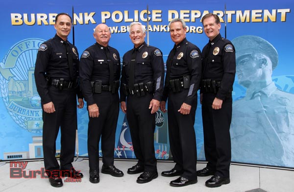 Burbank Police Command Staff. (Photo by Ross A. Benson)