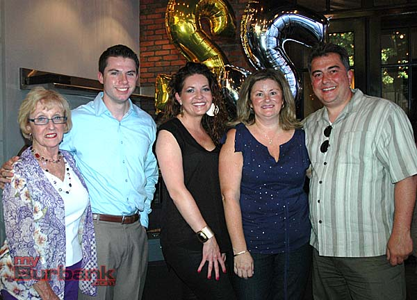 Celebrating the fundraiser for the Boys & Girls Club are board members, from left, Lynn Shelby, Brett Everhart, Gordon Biersch Assistant General Manager Kellye Vassar, Shanna Warren and Michael Dragan. (Photo by Joyce Rudolph)
