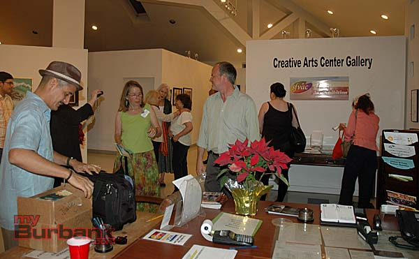 Everyone enjoyed the exhibition at the Burbank Creative Arts Center Gallery  (Photo By Joyce Rudolph)