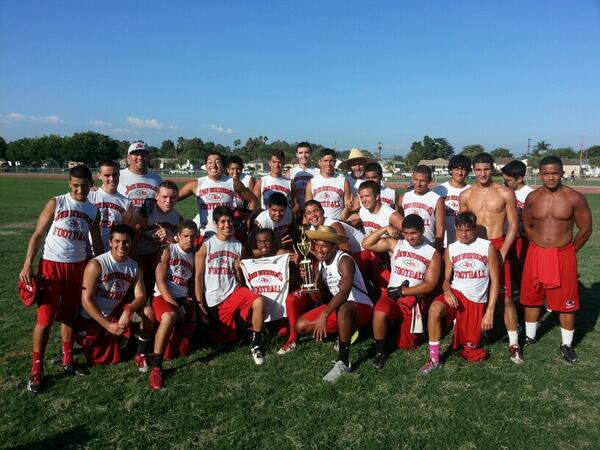 Burroughs won the consolation championship of the Santa Fe passing tournament (Photo courtesy of Burroughs football)