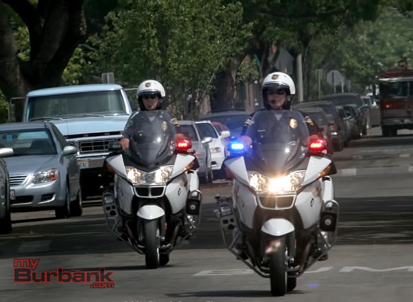 Burbank Traffic Officers.(Photo by Ross A. Benson)