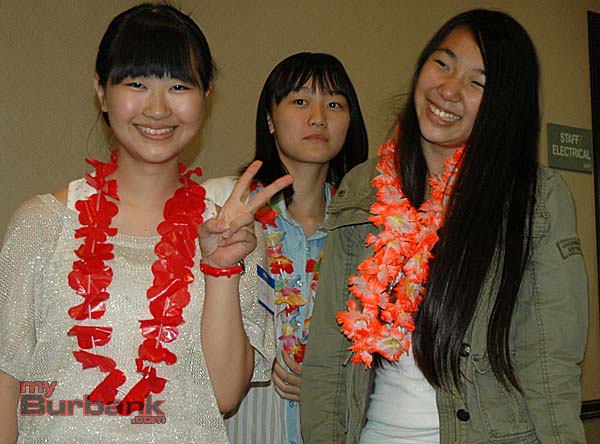 Three of the students from Ota are, from left, Mari Murata, Miu Horikoshi and Aya Kimoto   (Photo By Joyce Rudolph)