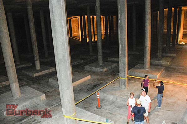 Residents were able to go down inside Reservoir #1's '1-A' to see inside the massive structure that will soon hold millions of gallons of water  (Photo By Craig Sherwood)