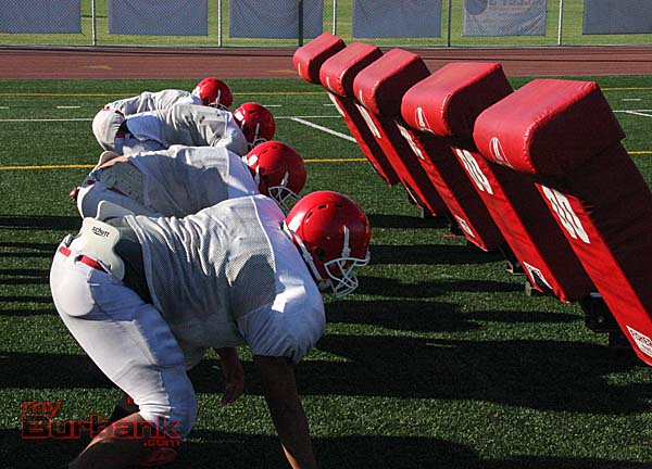 Burroughs is ready to pound ahead (Photos by Dick Dornan)