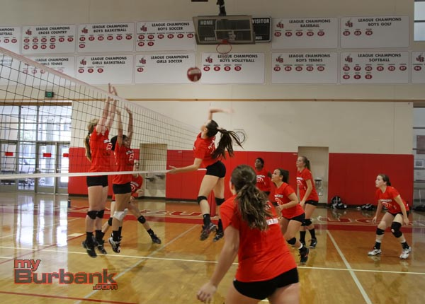 Burroughs girls volleyball (Photos by Ross A. Benson)