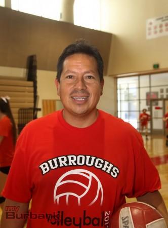 Burroughs coach Edwin Real (Photo by Ross A. Benson)
