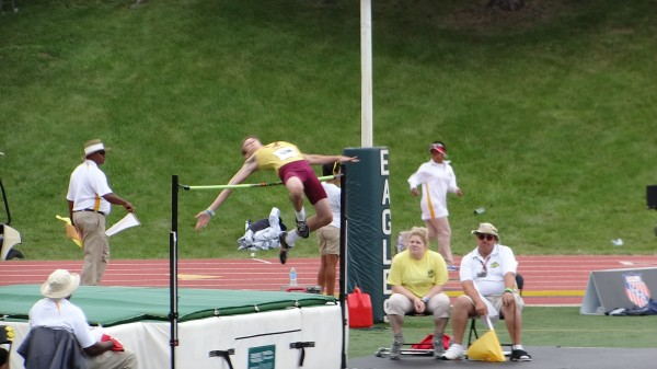 "Read clears 5'10"" setting a personal best (Photo courtesy of Karen Read)"