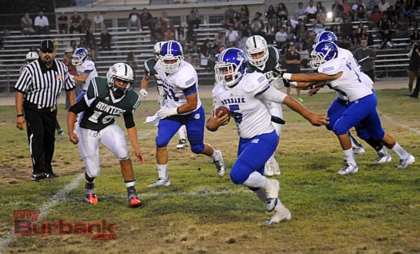 Joseph Pendleton scored three touchdowns for BHS (Photo by Craig Sherwood)