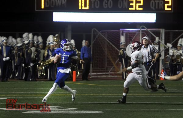 Ryan Meredith completed 11 of 14 passes for 164 yards, three touchdowns and no interceptions (Photo by Ross A. Benson)