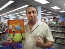 With his book 'No David' Author David Shannon read  at Burbank's Main Children Library. (Photo by Ross A. Benson)