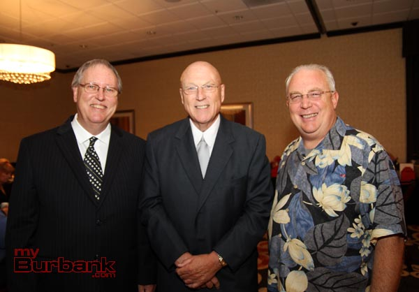 Rotary President Lee Stacy, Honoree Jack O'neill and Past President & Dinner Chairman Greg Simay. (Photo by Ross A. Benson)