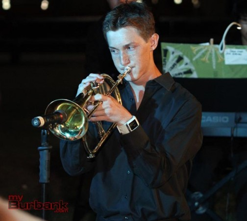 Nathan Bradley playing the Fugal horn. (Photo by Ross A. Benson)