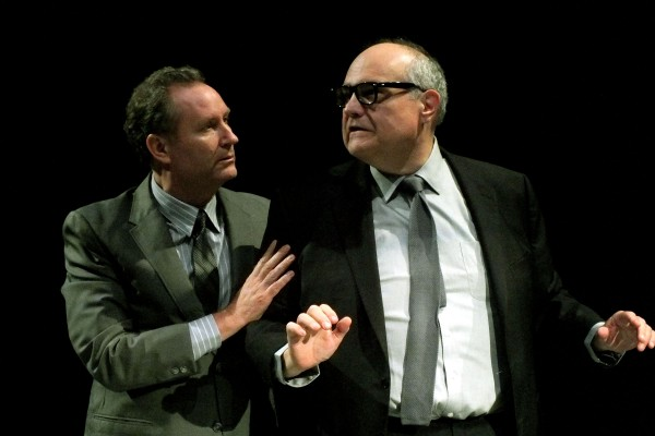 Brian Lohmann and Mike McShane in Impro Theatre's Twilight Zone UnScripted at the Falcon Theatre.  (Photo Courtesy of Chelsea Sutton)