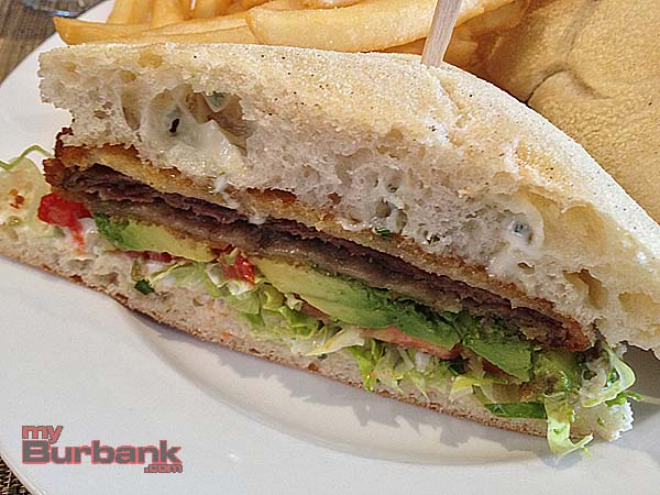 Milanesa, breaded steak sandwich. (Photo By Lisa Paredes)