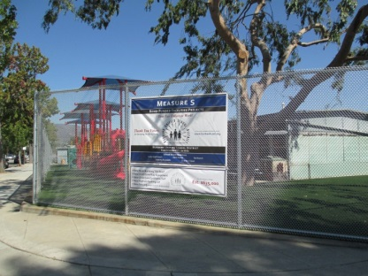 Completed work at Washington Elementary. (Photo Courtesy of Burbank Unified School District)