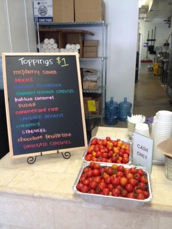 Fresh tomatoes delivered to Quenelle await John Park's handiwork. (Photo Courtesy of Kristen Jennings)
