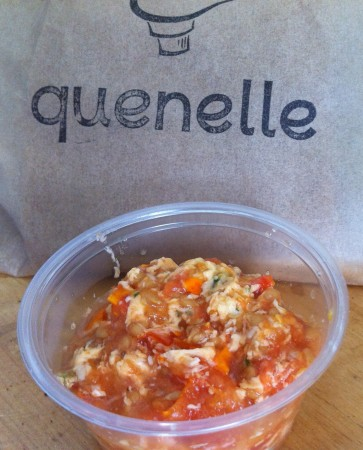 Tomato pesto butter goes great with warm scones from Quenelle. (Photo Courtesy of Erin Kelly)