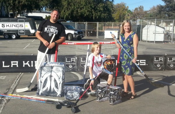 Kenny Knoop (left) coaches the street hockey team at Jordan