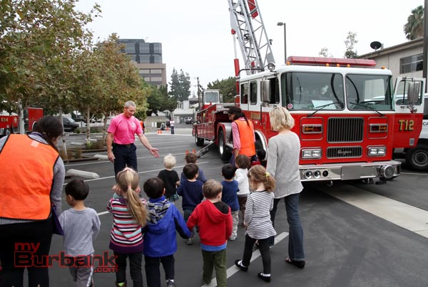 Capt. Grant Stephens takes the YMCA youngsters on a tour. (Photo By Ross A. Benson)