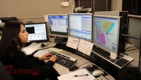 Burbank Police Dispatcher Tawny Montes.( Photo by Ross A. Benson)