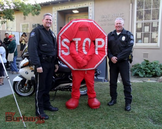 Burbank Motor Officers Randy Lloyd and Sgt. Kerry Schlif. ( Photo by Ross A. Benson)