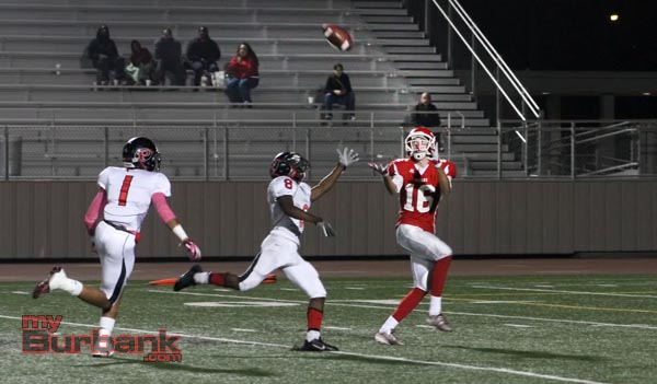 Conor Joyce hauls in a 49-yard touchdown reception (Photo by Ross A. Benson)