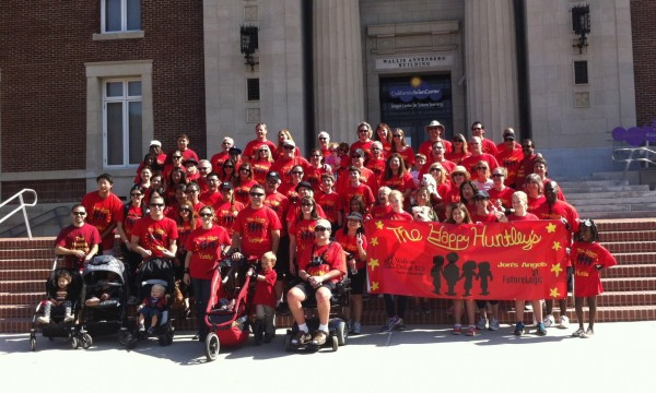 The Happy Huntleys team gather just before beginning the annual ALS Association L.A. Walk. (Photo Courtesy of the Huntley Family)