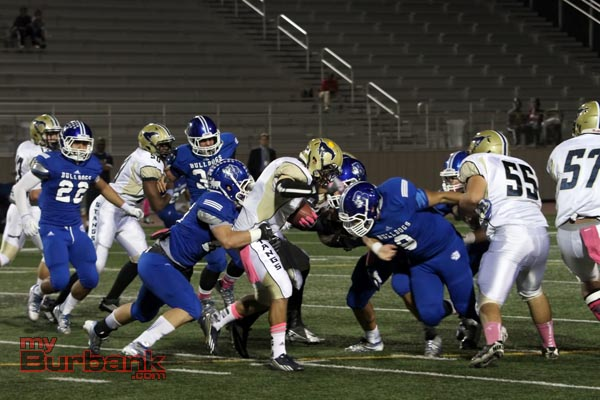 Burbank's defense was solid for much of the night (Photo by Ross A. Benson)
