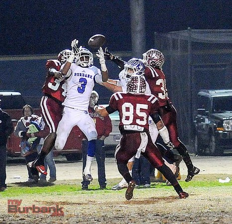 Oharjee Brown scored two touchdowns on the night (Photo by Craig Sherwood)