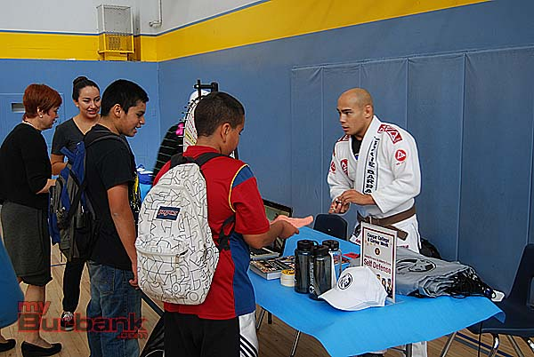 Gracie Barra Martial Arts talked about fitness. (Photo By Lisa Paredes)