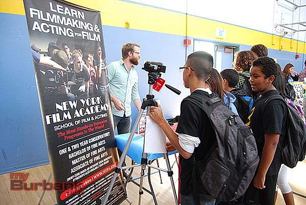 New York Film Academy drew interest. (Photo By Lisa Paredes)