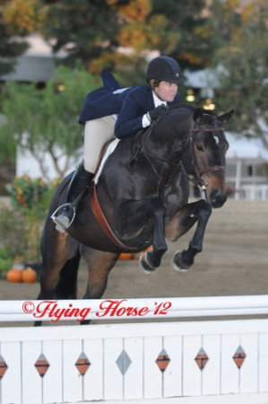 Devon Gibson and Belafonte strutting their stuff in the hunter ring. (Photo Courtesy of Flying Horse Photography)