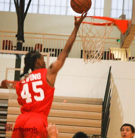 Rashid Ewing is a high-flyer who plays above the rim (Photo by Dick Dornan)
