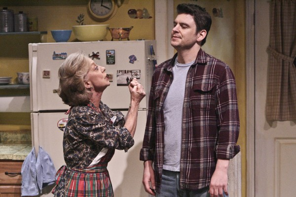 Ellen Crawford and Brian Ibsen star in the West Coast Premiere of the Colony Theatre's production of MIRACLE ON SOUTH DIVISION STREET, written by Tom Dudzick and directed by Brian Shnipper (Photo Courtesy Michael Lamont)