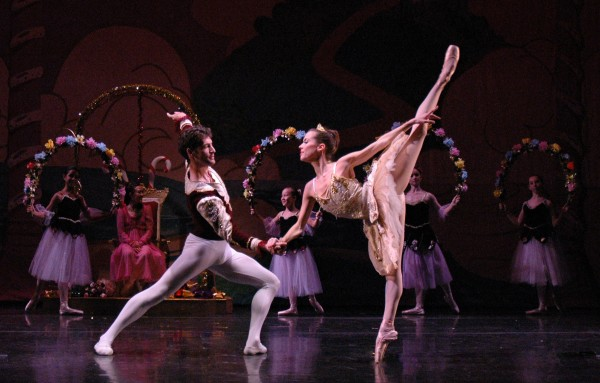 """Arsen Serobian and Carrie Lee Riggins perform in a past production of """"The Nutcracker"""" presented by the Pacific Ballet Dance Theatre. (Photo courtesy Pacific Ballet Dance Theatre) >"""