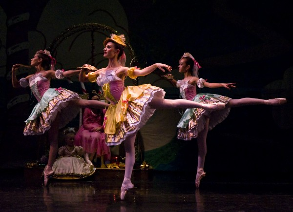 """Lead dancer Kristine Gregorian performs in a past production of """"The Nutcracker"""" presented by the Pacific Ballet Dance Theatre. (Photo courtesy Pacific Ballet Dance Theatre)"""