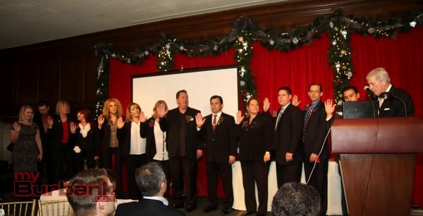 Incoming Burbank Association of Realtors as they take the oath of office. (Photo by Ross A. Benson)