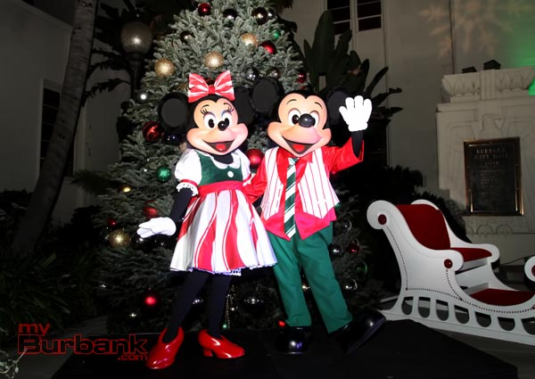 Helping with this years Tree Lighting were Mickey & Minnie Mouse. (Photo by Ross A. Benson)