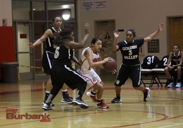 Burroughs' girls basketball (Photo by Ross A. Benson)