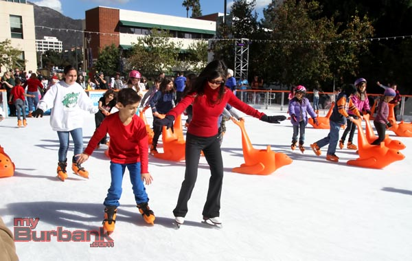 Olympian Kristi Yamaguchi skates at The Rink during a visit on Wednesday. (Photo by Ross A. Benson)